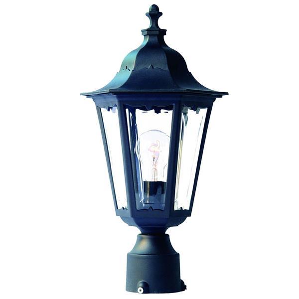 Lanterne extérieure Tidewater , 1 ampoule, Plastic, noir