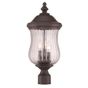 Acclaim Lighting Bellagio Outdoor Lantern  - 3 Bulbs - MarbleX - Black