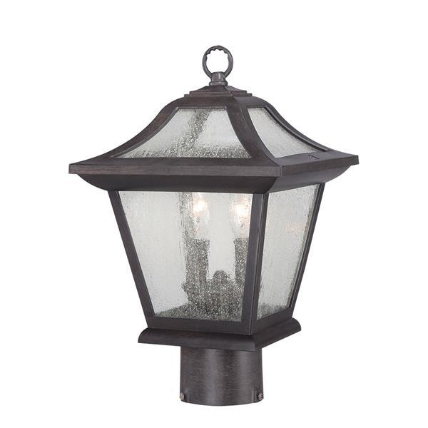 Acclaim Lighting Aiken Outdoor Lantern  - 2 Bulbs - MarbleX - Black