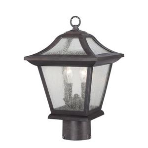 Acclaim Lighting Aiken Outdoor Lantern  - 2 Bulbs - MarbleX - Black