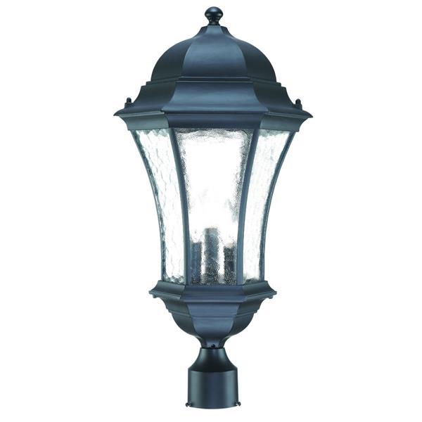 Acclaim Lighting Waverly Outdoor Lantern  - 3 Bulbs - Cast aluminum - Black