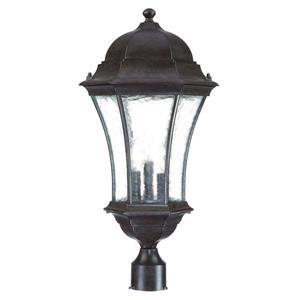 Waverly Outdoor Lantern  - 3 Bulbs - Black