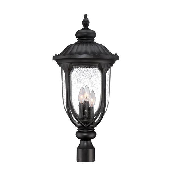 Lanterne extérieure Laurens , 3 ampoules, aluminium, noir