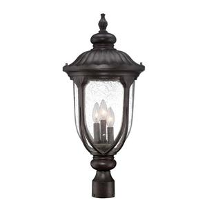 Acclaim Lighting Laurens Outdoor Lantern  - 3 Bulbs - Black