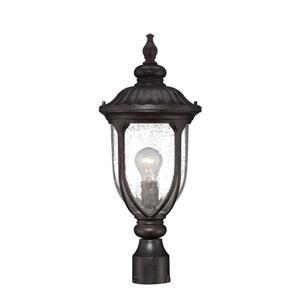 Acclaim Lighting Laurens Outdoor Lantern  - 1 Bulb - Cast aluminum - Black