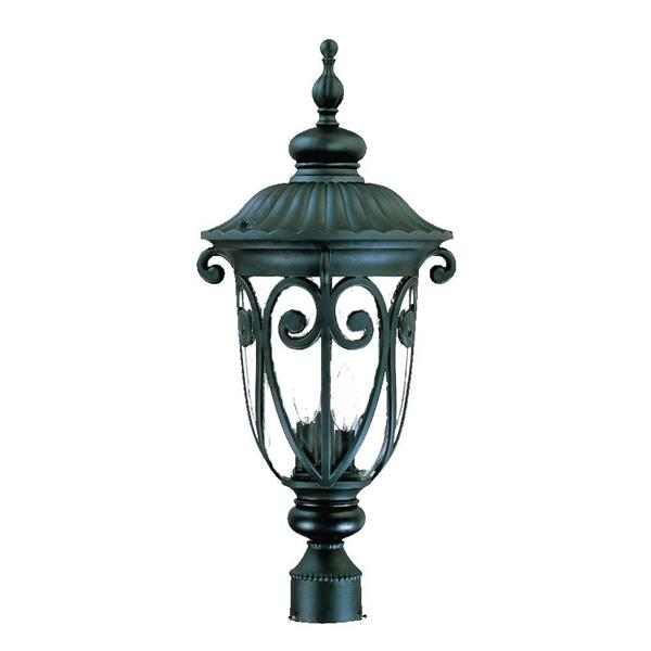 Acclaim Lighting Naples Outdoor Lantern  - 3 Bulbs - Cast aluminum - Black