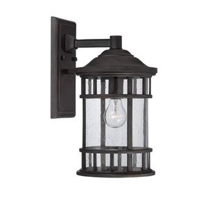 Acclaim Lighting Vista II 11.25-in Black Coral MarbleX Outdoor Wall Lantern