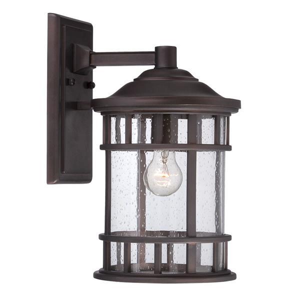 Acclaim Lighting Vista II 12.12-in Architectural Bronze MarbleX Outdoor Wall Lantern