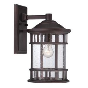 Acclaim Lighting Vista II 12.12-in Architectural Bronze MarbleX Outdoor Wall Lantern