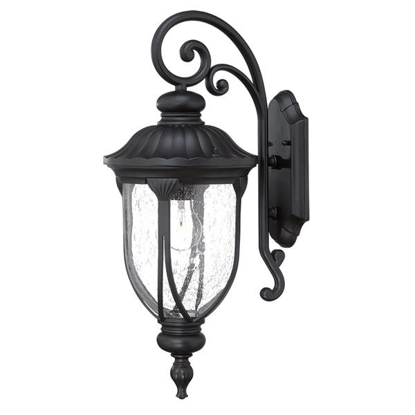 Acclaim Lighting Laurens 22.5-in Matte Black Aluminum Outdoor Wall Lantern