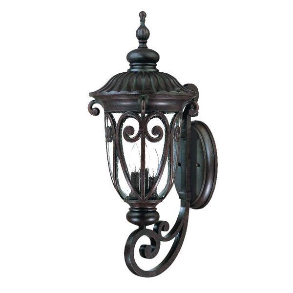 "Acclaim Lighting Naples Wall-Mounted Lantern - 27.5"" - Aluminum - Brown"