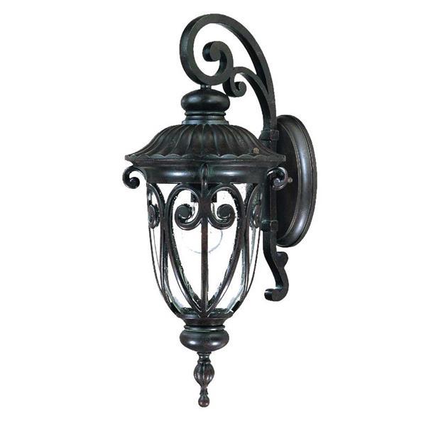 Acclaim Lighting Naples 22.75-in Brown Aluminum Outdoor Wall Lantern