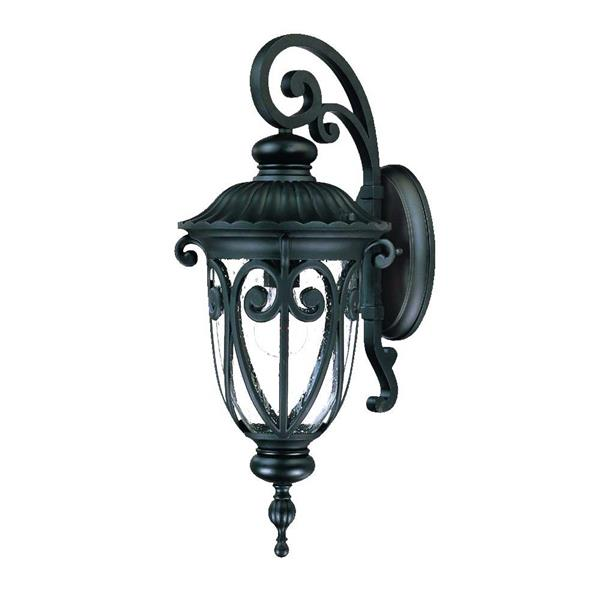 Acclaim Lighting Naples 22.75-in Black Aluminum Outdoor Wall Lantern