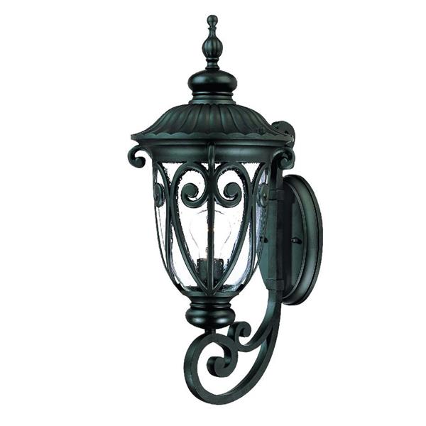 Acclaim Lighting Naples 22.75-In x 9.34-In Matte Black Wall Mounted Lantern