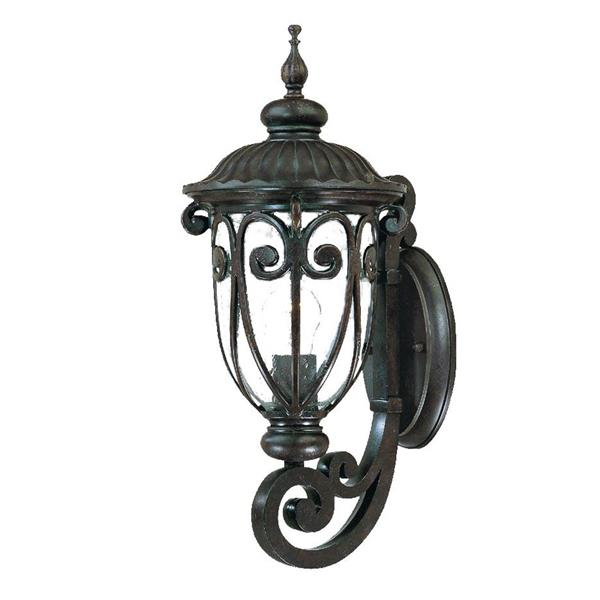 Acclaim Lighting Naples 18.00-In x 7.50-In  Marbleized Mahogany Wall Mounted Lantern