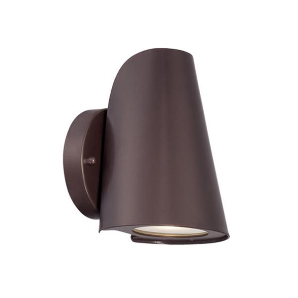 Acclaim Lighting 7-in Architectural Bronze Clear Glass Tapered Cylinder LED Outdoor Wall Sconce