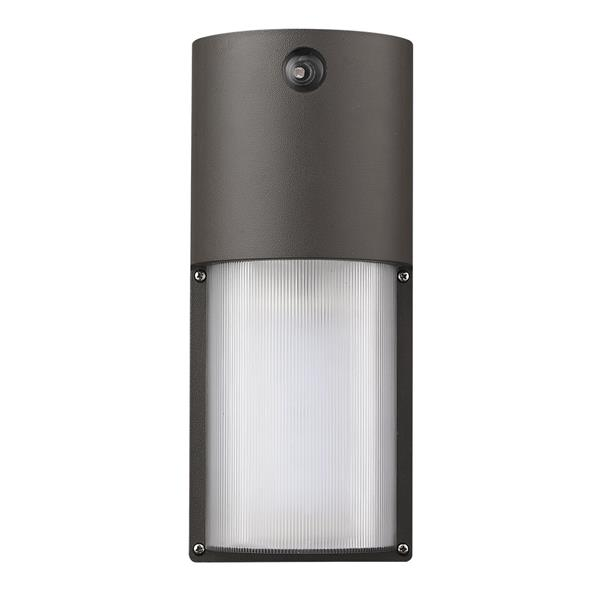 Acclaim Lighting 12.25-in Matte Bronze Frosted Glass Dual Voltage LED Outdoor Wall Sconce