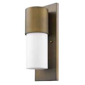 Acclaim Lighting Cooper 16-in Brass Outdoor Wall Light