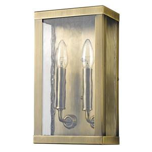 Acclaim Lighting Charleston 12-in Brass 2-Light Outdoor Wall Lantern