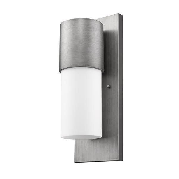 Acclaim Lighting Cooper 16-in Matte Nickel Outdoor Wall Light