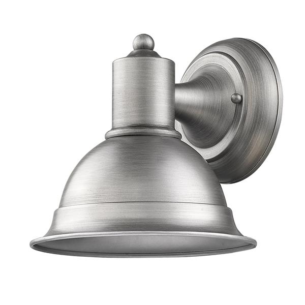 Acclaim Lighting Colton 8.25-in Matte Nickel Outdoor Wall Light