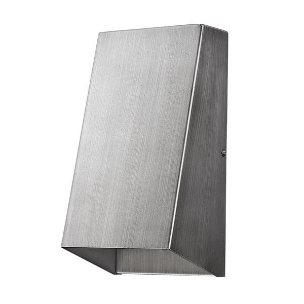Acclaim Lighting Nolan 9.75-in Nickel Steel Outdoor Wall Washer