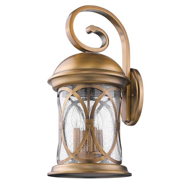 Acclaim Lighting Lincoln 23-in Antique Bronze Clear Glass 4-Light Outdoor Wall Lantern