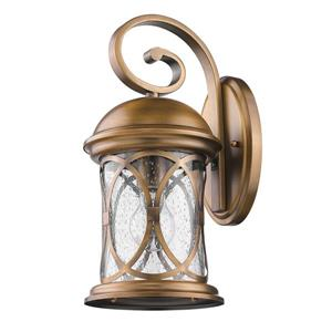 Acclaim Lighting Lincoln 15-in Antique Bronze Clear Glass Outdoor Wall Lantern