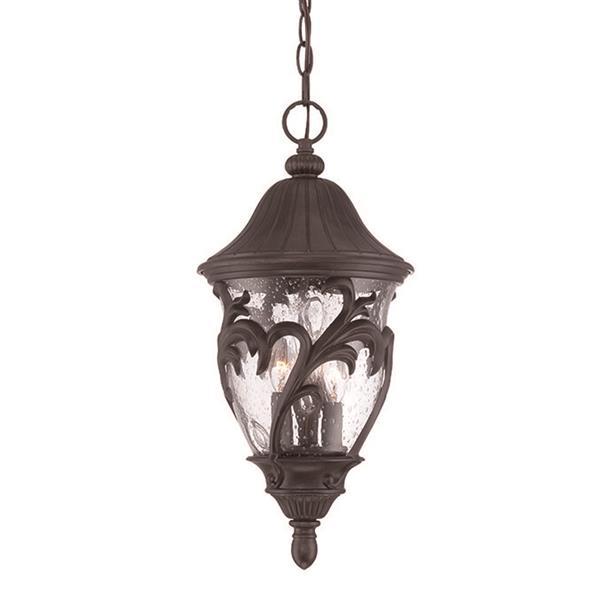 "Acclaim Lighting Capri Lantern - 3 Bulbs - 19.5"" - Black"