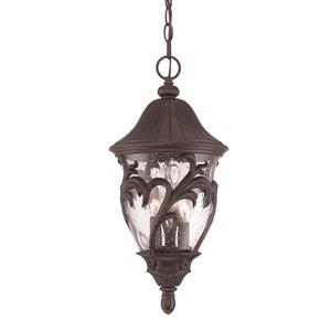 "Acclaim Lighting Capri Lantern - 3 Bulbs - 19.5"" - Black"