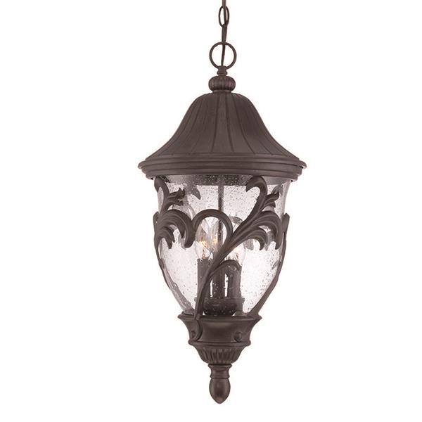 """Lanterne Capri, 3 ampoules, 25"""", noir"""