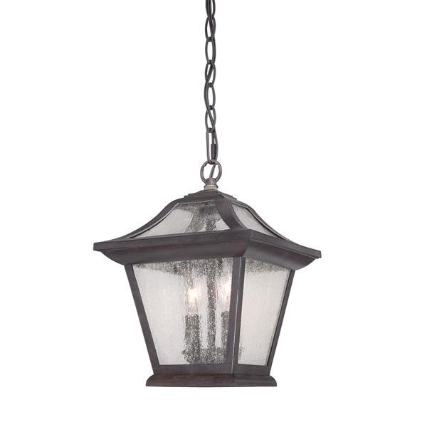 """Lanterne Aiken, 2 ampoules, 12"""", noir"""