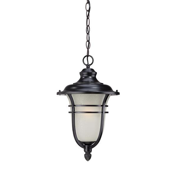 """Lanterne Montclair, 1 ampoule, 18"""", noir"""