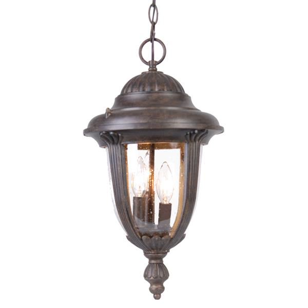 "Acclaim Lighting Monterey Lantern - 3 Bulbs - 19.5"" - Black"