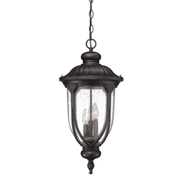 "Acclaim Lighting Laurens Lantern - 3 Bulbs - 24.5"" - Black"