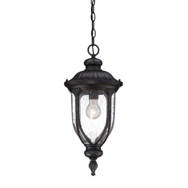 """Lanterne Laurens, 1 ampoule, 20,5"""", noir"""