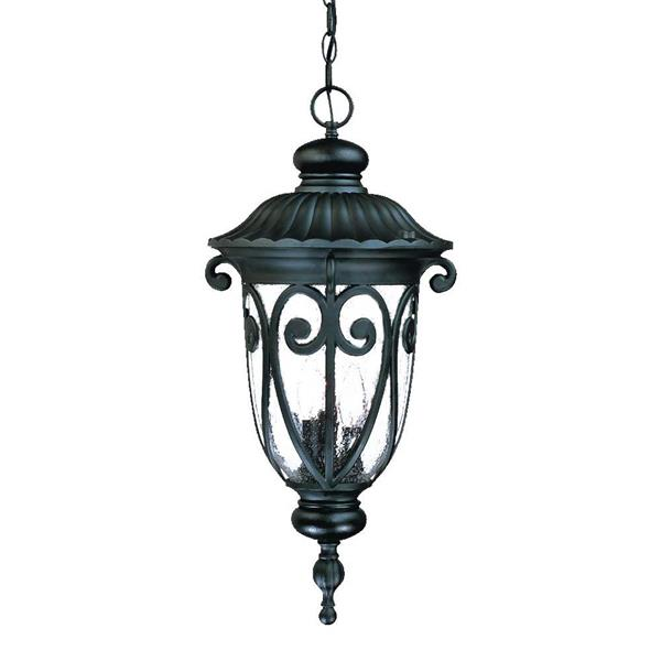 """Lanterne Naples, 3 ampoules, 24,5"""", noir"""