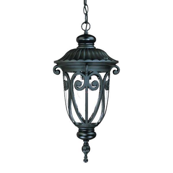 "Acclaim Lighting Naples Lantern - 1 Bulb - 20.5"" - Black"