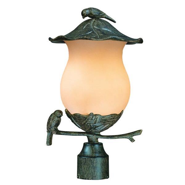 Acclaim Lighting Avian Outdoor Lantern  - 2 Bulbs - Cast aluminum - Black