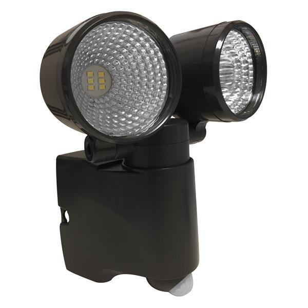 Lumière de sécurité DEL fonctionne sur piles et détecteur