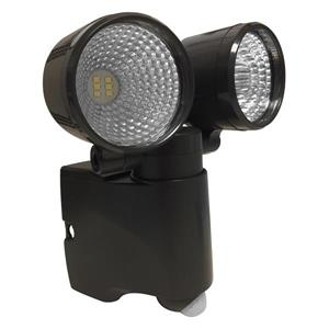 Acclaim Lighting LED Dual Head Battery Operated flood light w/Motion Sensor