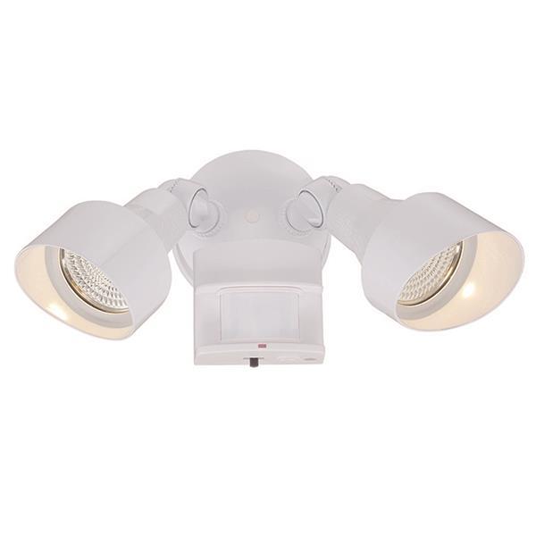 Lumière de sécurité DEL avec détecteur, blanc