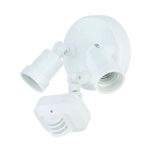 Lumière de sécurité Double à détection, blanc