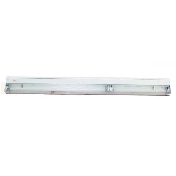 """Luminaire blanc à 2 tubes fluorescents de 33"""", blanc"""