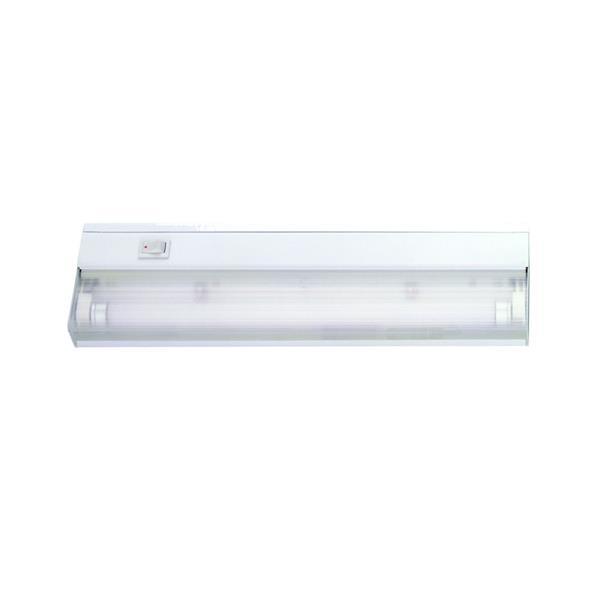 """Luminaire blanc à 1 tube fluorescent de 12"""", blanc"""
