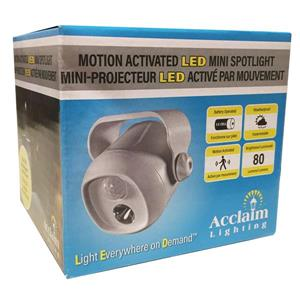 Acclaim Lighting Battery Operated Motion Activated LED Mini Spotlight