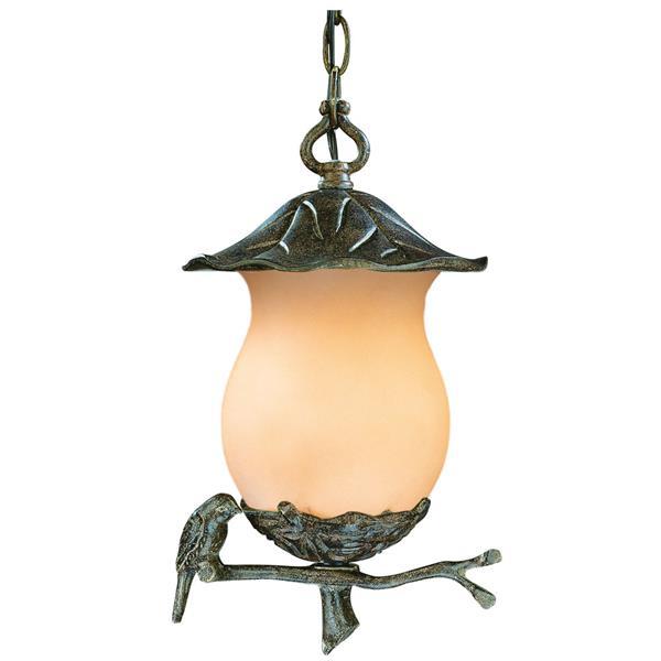 """Lanterne Avian, 2 ampoules, 14,25"""", noir"""