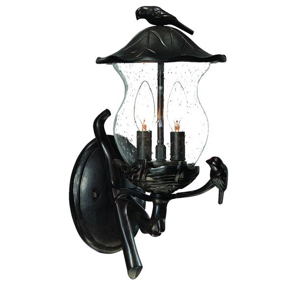 Acclaim Lighting Avian 16.50-in x 8-in Black Coral Mounted Wall Lamp