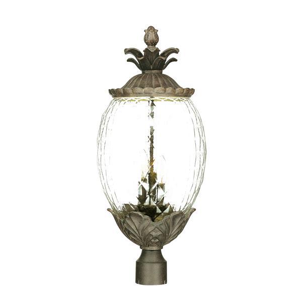 Acclaim Lighting Lanai Outdoor Lantern  - 3 Bulbs - Cast aluminum - Black