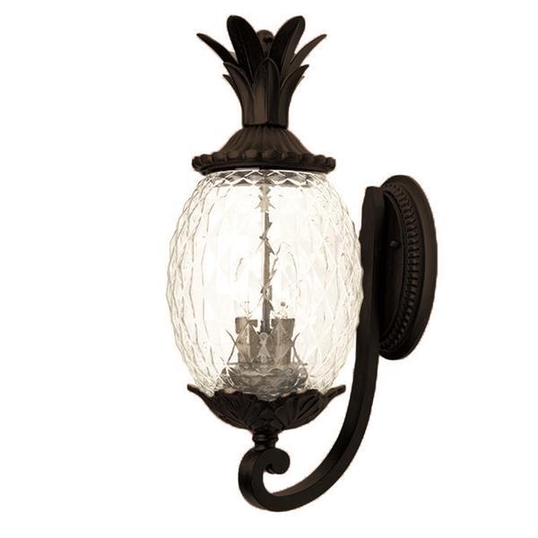 Acclaim Lighting Lanai 21.75-in Matte Black Clear Glass 3-Light Outdoor Wall Lantern